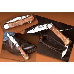 Couteau Pionnier 3 pieces,genevrier,10.5 cm