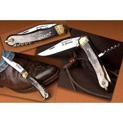 Couteau de poche Pionnier 2 pièces corne / laiton
